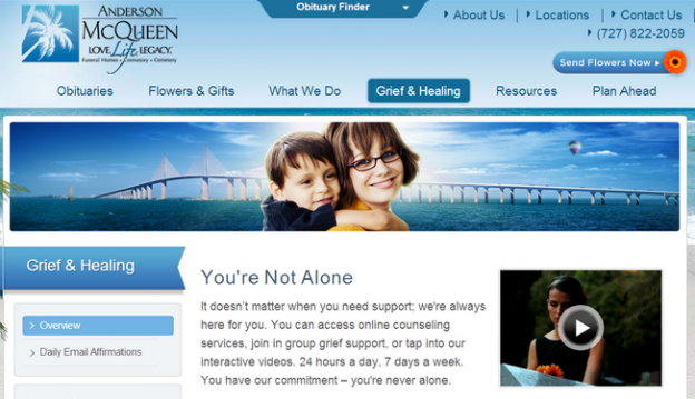 Anderson McQueen engages people on their website by featuring imagery with people who are relatable to potential families. Check out their live website by clicking on the image above.