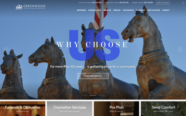 Greenwood Funeral Home website via f1Connect